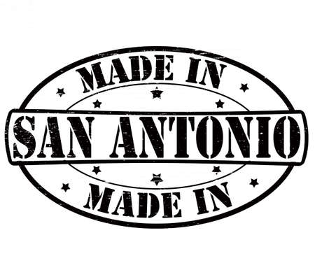 Stamp with text made in San Antonio inside, vector illustration Vector