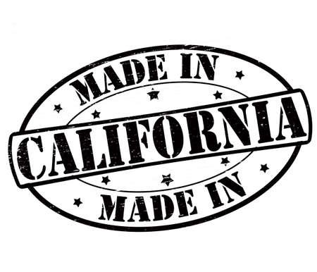 Selo com texto feito na Califórnia dentro, ilustração vetorial