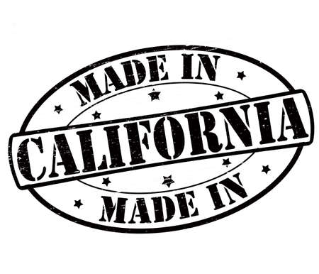 Stamp with text made in California inside, vector illustration Illustration