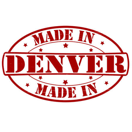 Stamp with text made in Denver inside, vector illustration Vector