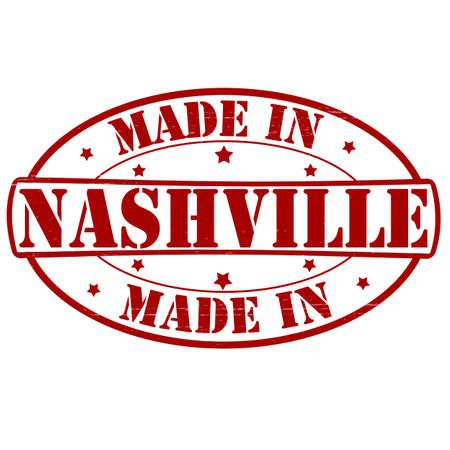 nashville: Stamp with text made in Nashville inside, vector illustration