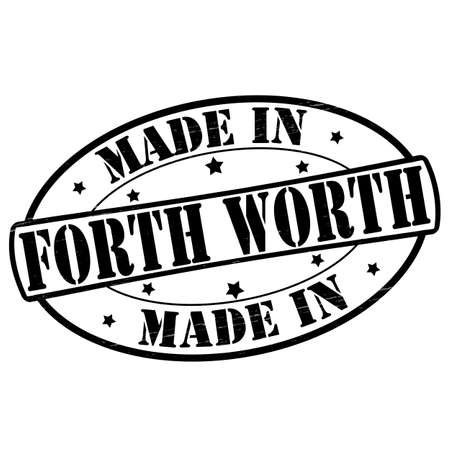 forth: Stamp with text made in Forth Worth inside, vector illustration Illustration
