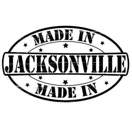 jacksonville: Stamp with text made in Jacksonville inside, vector illustration