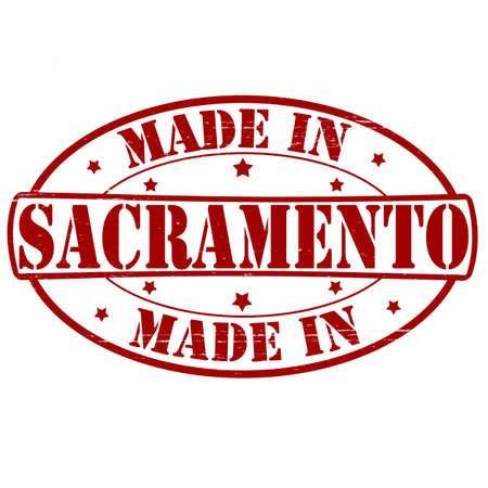 Stamp with text made in Sacramento inside, vector illustration Vector