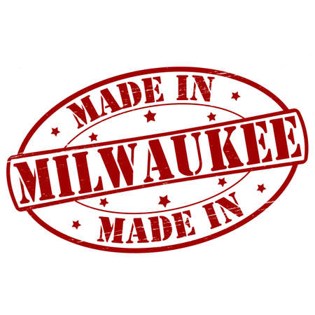 milwaukee: Stamp with text made in Milwaukee inside, vector illustration Illustration