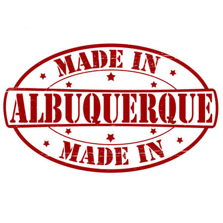 albuquerque: Stamp with text made in Albuquerque inside, vector illustration