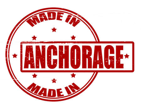 anchorage: Stamp with text made in Anchorage inside