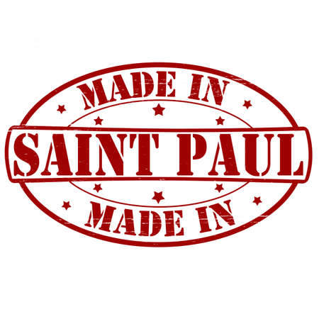 paul: Stamp with text made in Saint Paul inside