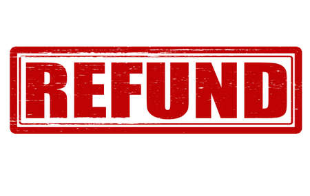 reimbursement: Stamp with word refund inside