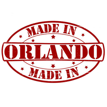 orlando: Stamp with text made in Orlando inside