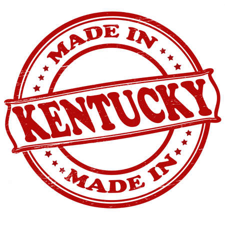 Stamp with text  made in Kentucky inside Vector