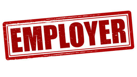 employer: Stamp with word employer inside, vector illustration