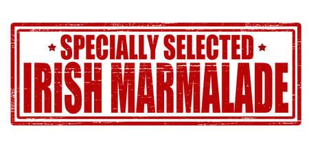 marmalade: Timbro con il testo irlandese marmellata dentro, illustrazione vettoriale Vettoriali
