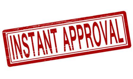 approbation: Timbro con testo approvazione immediata dentro, illustrazione vettoriale Vettoriali