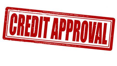 approbation: Timbro con approvazione del credito testo dentro, illustrazione vettoriale Vettoriali
