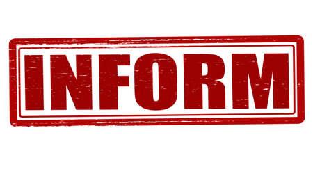 inform: Stamp with word inform inside, vector illustration