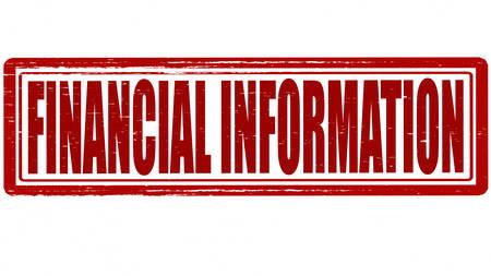 acquaintance: Sello con la informaci�n financiera texto dentro, ilustraci�n vectorial Vectores