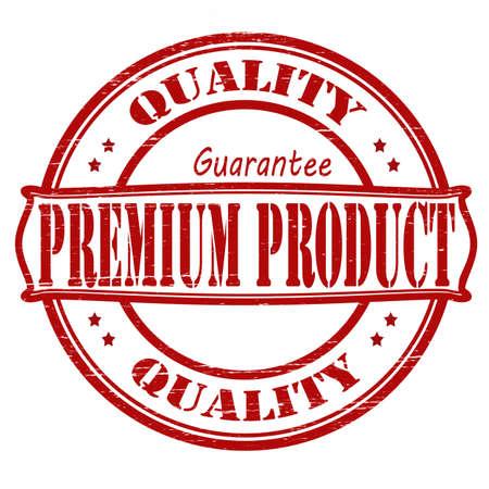 surety: Timbro con il prodotto premium testo dentro, illustrazione vettoriale