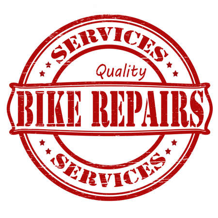 Stamp with text bike repair inside, vector illustration Vector