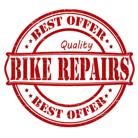 Stamp with text bike repairs inside, vector illustration Vector