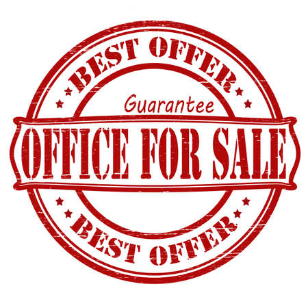 surety: Stamp with text office for sale inside, vector illustration Illustration