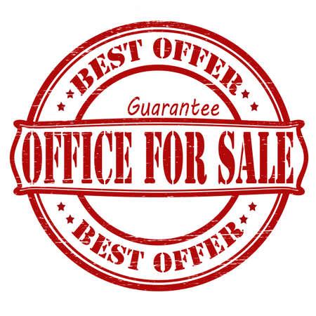 surety: Timbro con sede testo per la vendita dentro, illustrazione vettoriale Vettoriali
