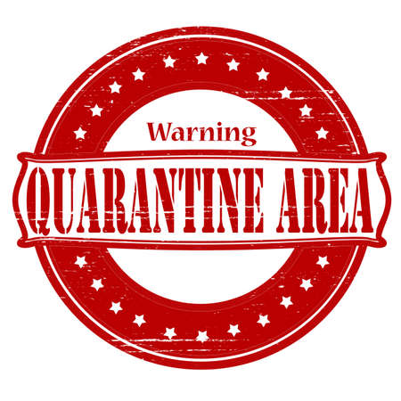 quarantine: Stamp with text quarantine area inside, vector illustration Illustration
