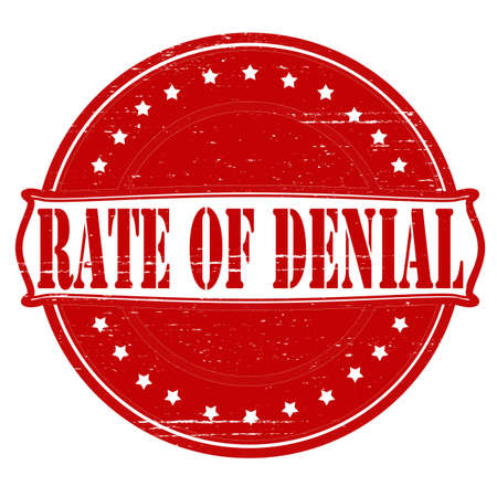 denial: Stamp with text rate of denial inside, vector illustration Illustration