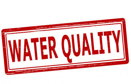 virtue: Stamp with text water quality inside, vector illustration