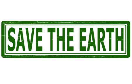 redeem: Stamp with text save the Earth inside, vector illustration