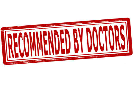 recommended: Stamp with text recommended by doctors inside,vector illustration Illustration