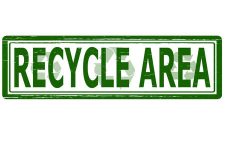 recycle area: Stamp with text recycle area inside,vector illustration Illustration