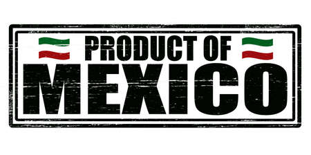 Stamp with text product of Mexico inside,vector illustration Vector