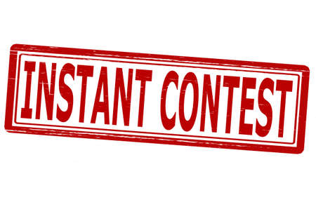 concurrence: Stamp with text instant contest inside,vector illustration
