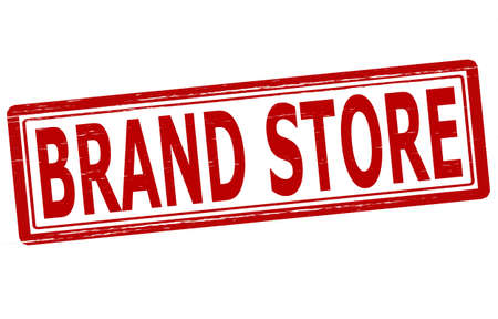 emporium: Stamp with text brand store inside,vector illustration