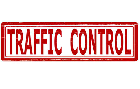 traffic control: Sello con el control del tr�fico texto dentro, ilustraci�n vectorial Vectores