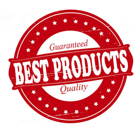 best products: Stamp with text best products inside, vector illustration Illustration
