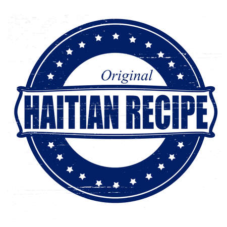 haitian: Stamp with text Haitian recipe inside, vector illustration