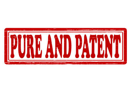 patent: Stamp with words pure and patent inside, vector illustration Illustration
