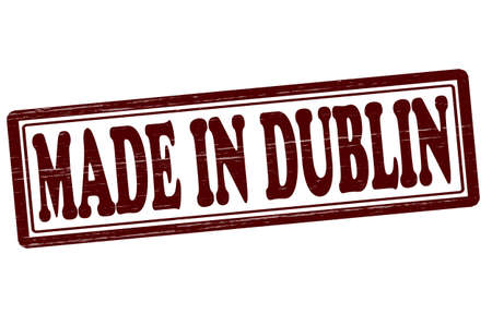 dublin: Stamp with text made in Dublin inside, vector illustration Illustration