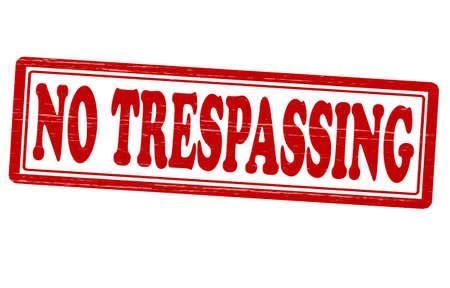 trespass: Stamp with text no trespassing inside, vector illustration Illustration