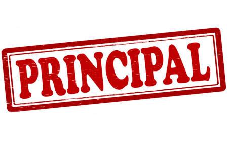 principal: Stamp with word principal inside, vector illustration