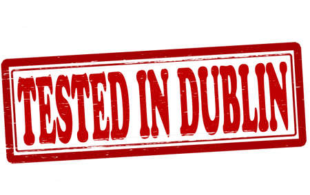 dublin: Stamp with text tested in Dublin inside, vector illustration