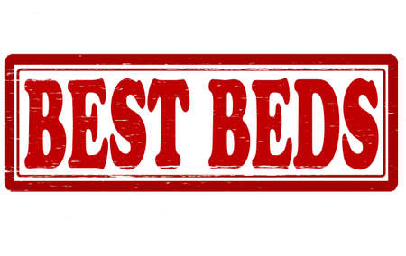 berth: Stamp with text best beds inside, vector illustration Illustration