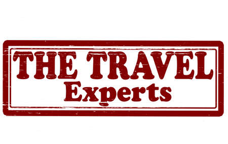 Stamp with text travel experts inside, vector illustration