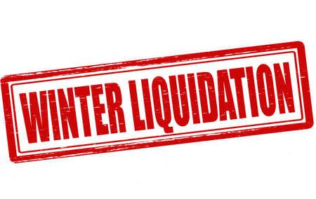 liquidation: Stamp with text winter liquidation inside, vector illustration Illustration