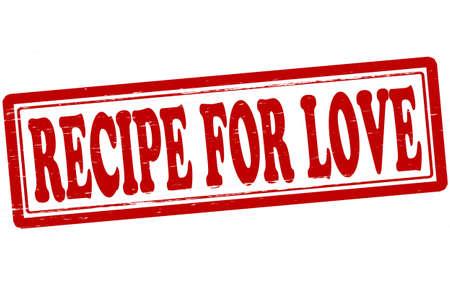 スタンプ テキスト ベクトル図中の愛のレシピ  イラスト・ベクター素材