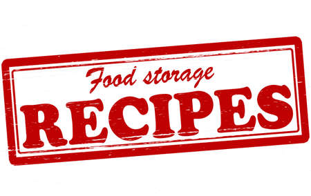 food storage: Stamp with text food storage recipes inside, vector illustration Illustration