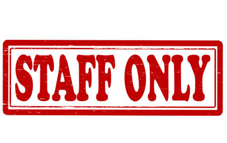 staff only: Stamp with text staff only inside, vector illustration Illustration