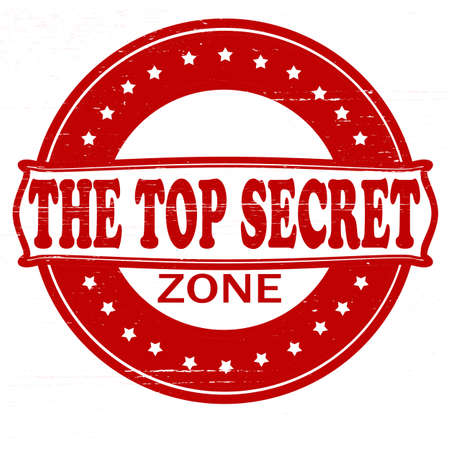 Stamp with text top secret zone inside, vector illustration Vector